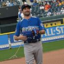 Jon Hamm at the 2012 Taco Bell All-Star Legends & Celebrity Softball Game at Kauffman Stadium in Kansas City, Missouri (July 8)