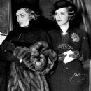 Constance Bennett with sister Joan Bennett - 448 x 575