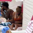 Teyana Taylor in Bikini on the beach in Miami - 454 x 367