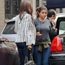 David Bowie's teenage daughter Lexi seen for first time since singer's tragic death as she steps out with model mom Iman in New York City
