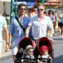 Neil Patrick Harris and David Burka taking the twins for a stroll in St. Tropez (August 2) - 454 x 650