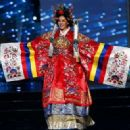 Miss Universe Korea Jenny Kim walks on stage in her national costume during the Miss Universe preliminary show at the Mall of Asia Arena in Pasay City, south of Manila, Philippines 26 January 2017. (Photo by Rolex Dela Pena/EPA)