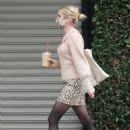 Emma Roberts in Animal Print Skirt – Steps out for a Frappuccino in Los Angeles