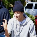 Justin Bieber returns to back to his hotel in Beverly Hills,Ca 10, 2014