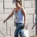 Haylie Duff stops by a UPS Store to mail a package in West Hollywood, California on December 27, 2013