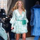 Nina Agdal in Floral Dress out in NY