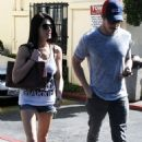 Ashley Greene and Josh Henderson grabbing a bite to eat at Sunset Plaza in West Hollywood, CA (April 6)