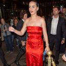 Katy Perry At The Russian Tea Room In Ny
