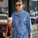 Freida Pinto in Denim Dress – Shopping in LA
