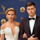 Scarlett Johansson and Colin Jost :  70th Emmy Awards - Arrivals - 454 x 303