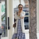 Natalie Portman in Long Dress – Out in Los Angeles - 454 x 636