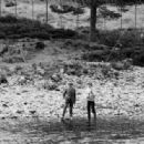 Lady Diana Spencer with the fishing guide Charles Wright was photographed learning the art of salmon fishing, at the River Dee on the Balmoral Estate in Scotland - 5 May 1981