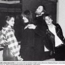 1984, March 12th - Opening of the New York Hard Rock Cafe - Lee, Mo, Isaac and Jason (Lee and Jason are children by Ringo) - 400 x 327