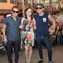 Kevin Zegers, Lily Collins and Jamie Campbell Bower promoting