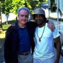 Lorne Michaels with Tim Meadows on the set of Paramount's The Ladies Man - 2000