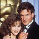Jennifer Grey and Patrick Swayze At The 60th Annual Academy Awards - Arrivals (1988) - 236 x 354