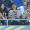 Sir Mick Jagger and his lookalike son Lucas join the rocker's other children Lizzie and James as they watch Portugal claim victory in EURO 2016 Final - 454 x 256