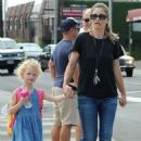 Rebecca Gayheart and her daughter Billie Dane spotted out and about in West Hollywood, California on September 8, 2014 - 454 x 537