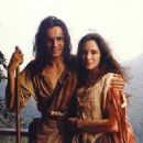 Daniel Day-Lewis as Hawkeye (Nathaniel Poe) and Madeleine Stowe as Cora Munro in The Last of The Mohicans  (1992)