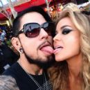 Carmen Electra and Dave Navarro  6th Annual Revolver Golden Gods award show April 23,2014