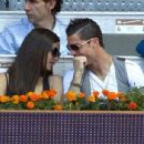Irina Shayk and Cristiano Ronaldo at a tennis match in Madrid (May 10)