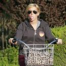 Ashley Tisdale - On Her New Pink Bicycle On The Streets Of Toluca Lake, 2009-10-06