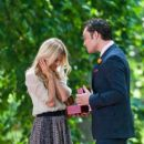 Ed Westwick and Clemence Poesy Film in Central Park