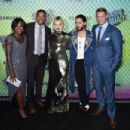 Viola Davis, Will Smith, Margot Robbie, Jared Leto and Joel Kinnaman- August 1, 2016- 'Suicide Squad' Premiere in New York for Carrera - 454 x 302