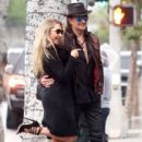 Nikki Lund and Richie Sambora check out their new flagship store 'Nikki Rich' opening in March 15 in Beverly Hill, CA on February 2, 2015 - 403 x 600