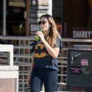 Elizabeth Olsen in Tights at Kreation in LA November 6, 2017
