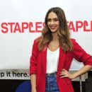 Jessica Alba meets Staples for Students sweepstakes grand prize winner in New York