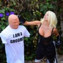 Courtney Stodden – Takes shots at her ex Doug Hutchinson punching shirt in Beverly Hills - 454 x 449
