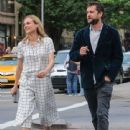 Actress Diane Kruger and Joshua Jackson spotted out for an evening stroll in New York City, New York on June 8, 2015 - 441 x 600