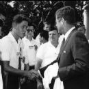 Bill Clinton Meeting John F. Kennedy On The White House Lawn - 454 x 460