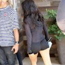 Kourtney Kardashian in Shorts Arrives at a Local Studio in LA - 454 x 628