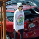 Kaia Gerber – Out on a dog walk in Los Angeles