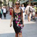 Myleene Klass in Floral Dress out in London - 454 x 681