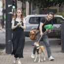 Rose Leslie and Kit Harrington – Out for a walk in North London