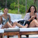 Karrueche Tran Wearing Swimsuit On The Beach In Miami
