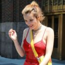 Bella Thorne in Red – Leaves a NYC Hotel in Manhattan