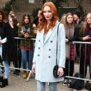 Eleanor Tomlinson – Topshop Unique Show at 2017 LFW in London February 19, 2017 - 454 x 662