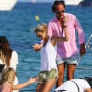 Karolina Kurkova In Shorts Leaving Club 55 In St Tropez