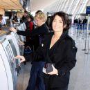 Kelly Carlson Leaving Dulles International Airport In Washington DC, January 28 2010