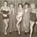 Susan Ames, Jimmy Durante, Angie Dickinson, Groucho Marx and Dawn Oney, 1954