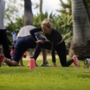 Amber Valletta – Taking her yoga class in a park in Santa Monica - 454 x 401