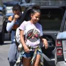 Christina Milian – Seen with her family in Studio City
