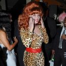 Amber Rose Throws a Halloween Themed Birthday Party at Her House in Los Angeles, California - October 20, 2014