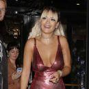 Rita Ora in Mini Dress – Leaving her hotel in Paris