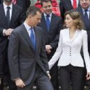 Spanish Royals attend a meeting for Miguel de Cervantes
