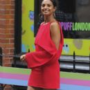 Alesha Dixon in Red Dress out in Soho - 454 x 860